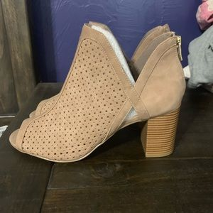 Never worn peep toe booties